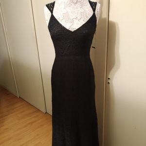 ModCloth Black Sequins Evening Gown